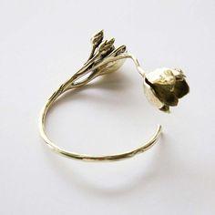 Golden Flower - Armband i Mässing