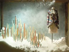 Just Laugh.: Anthropologie's To-Die-For Displays...yardsticks in snow