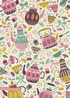 anna deegan   Tea Time by Anna Deegan, via Behance