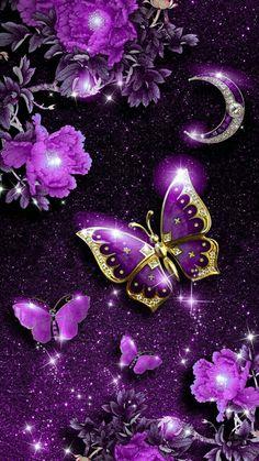 Purple Butterfly Wallpaper, Wallpaper Nature Flowers, Purple Wallpaper Iphone, Flowery Wallpaper, Flower Phone Wallpaper, Beautiful Flowers Wallpapers, Heart Wallpaper, Butterfly Art, Pretty Wallpapers