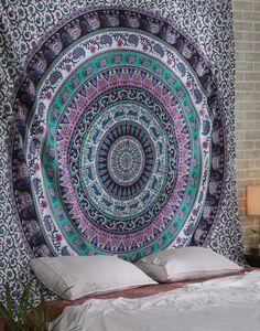 Rugs – Flat Sheets Tapestry Bohemian Tapestry Tie Dye    – a unique product by LindasJewelryStuff on DaWanda