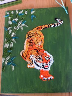 tiger - paper quilling
