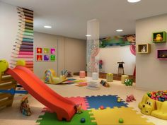 Brinquedoteca Indoor Playroom, Ikea Playroom, Playroom Design, Wall Painting Decor, Home Daycare, Kids Play Area, Cool Rooms, Kid Spaces, Girl Room