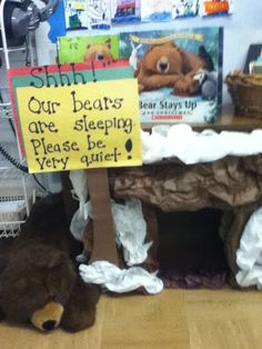 Hibernation Station  - Getting Ready for our bears!