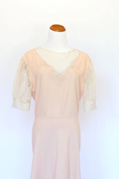 Vintage 40's Style Dress Pink Peach Dress by pinebrookvintage, $30.00 NEW!!! 1940's retro dress. This is a classic style that you will wear over and over!