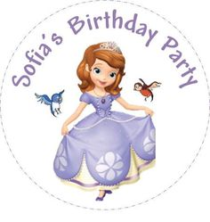 Sofia the First Favor tags cupcake toppers