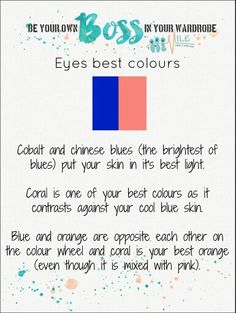 Wardrobe Color Guide, Types Of Eyes, Dramatic Classic, Be The Boss, Color Tile, Color Theory, Body Shapes, Blues, Colours