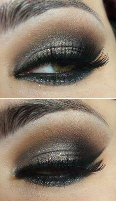 Black n Gold Eye Makeup Look