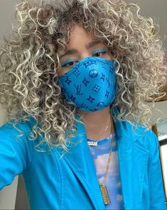 Baby Blue Masklife Look. Ghost Face Mask, Nose Mask, Face Masks, Chica Cool, Beauty Treats, Instagram Outfits, Fashion Face Mask, Mask Design, Fashion Outfits