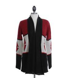 BB Dakota Red, Beige and Black Sweater