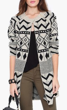 Aztec Print Sweater