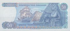 Greece - Fifty Drachma Note from 1978. (reverse)