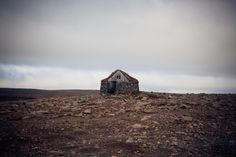Stone and sod cabin in West Fjords, Iceland.  Photographed by Nathan Swan.