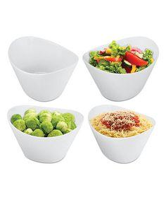 Another great find on Modern Porcelain Serving Bowl - Set of Four Serving Bowl Set, Serving Utensils, Serving Dishes, Bowl Of Soup, Large Bowl, Salad Bowls, Craft Stick Crafts, Stew, Dog Food Recipes