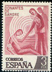 Francobolli - Donazione e trasfusione di sangue - Blood donation and transfusion Spagna 1976