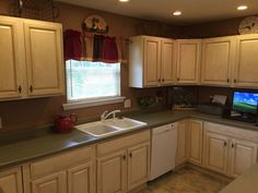 Kitchen makeover for $100 with General Finishes Milk Paint!! | Hometalk