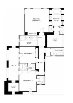 Santorini at Windemere by Brookfield Homes - Residence One - Floor Plan - Second Floor - Robert Hidey Architects