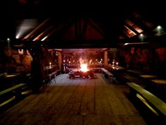 Longhouse inside.