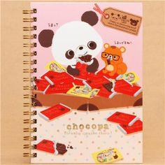 pink Chocopa panda bear chocolate ring binder notebook