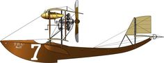"Ernest Buri's ""FBA"". Schneider Trophy Race c1914. Elegant simplicity in an early aircraft."