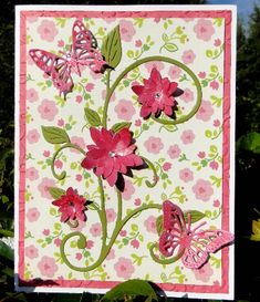 Pink and Green flower burst by jasonw1 - Cards and Paper Crafts at Splitcoaststampers