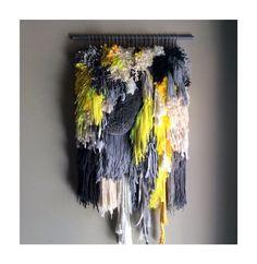 Gewebte Wand hängend / kleine Schätze n. 3 / handgewebte Wandteppich Weben Faser Kunst Textil gewebt Home Decor Jujujust