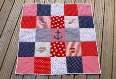 even babies can get in on the nautical craze - though I think it's NOT A CRAZE - it's traditional and #timeless Nautical Baby Quilt | Bethany Éowyn Kelman