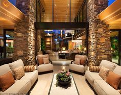 The home, which covers a whopping 31,000 square feet, is located in Enclave Court in Summe...
