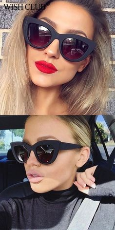 c3bd17996a Fashion black cat eye frame sunglasses women luxury brand designer ladies  small vintage sexy retro cheap wholesale  sunglasses  eyewear  luxury