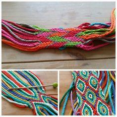 .Ply Split Braiding (workshop) Finger Weaving, Weaving Yarn, Hand Weaving, Tablet Weaving, Crochet Tote, Crochet Handbags, Knit Crochet, Tapestry Bag, Tapestry Crochet