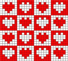 filet crochet heart pattern free - Google Search#