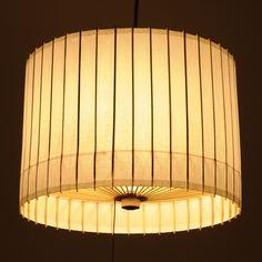 KOTORI/和紙 ペンダントランプ 白 19950yen 京和傘の老舗製造元のつくる、細やかな陰影と優しい明かりの照明