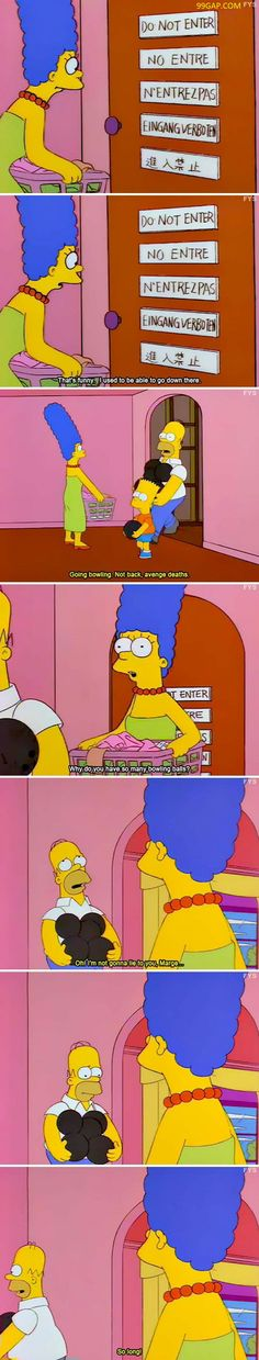 #FunnyPictures Of Marge Simpson vs.Door Sign ft.#TheSimpsons