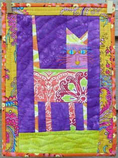 Imperial Cat quilt by Kristin Shields. Inspired by Jude Hill.