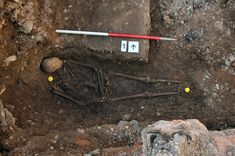 The original hastily dug grave of Richard III of England (shown here) can now be viewed by the public at a visitor center for the king in Leicester, England.