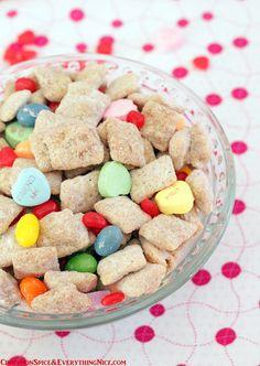 White Chocolate Valentine's Day Puppy Chow