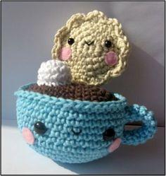 Taza y Galletita  Patron de amigurumi de crochet/ganchillo