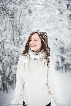 Sandra - sesja zimowa - Katarzyna Wojciechowska Fotografia