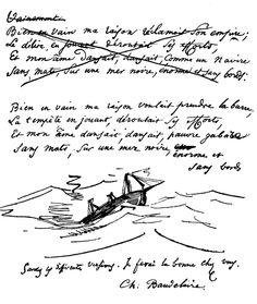 Charles de Baudelaire. - manuscrit