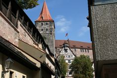 Along the wall, Nuremberg, Germany.