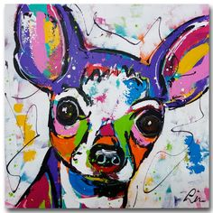 Abstract Italy Dog Canvas Wall Picture