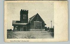 Old Postcard Grand Trunk Railroad Depot Lansing MI Michigan