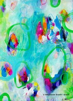 """Ascending. 30"""" X 22"""". http://stephanieestrin.com #abstract #art"""