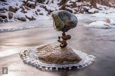 Balancing rocks in ice