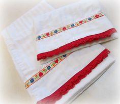 DIY embellished pillowcases