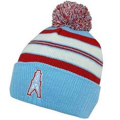 97e1ed3c8 Houston Oilers Youth Retro Cuffed Knit Hat – Light Blue