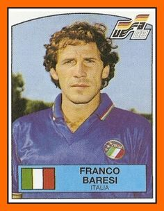 Franco Baresi of Italy. Franco Baresi, Football Italy, Euro Championship, European Championships, Vignettes, Mullets, Baseball Cards, Sports, Trading Cards