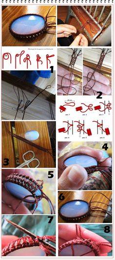 macrame stone wrapping