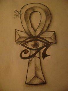 Ankh+Cross+With+The+Right+Eye+Of+Horus+Tattoo+Designed+For+Juan+In+My+