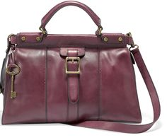 Fossil Vintage Revival Satchel. this is my new favorite handbag for the fall. best part it has a crossbody strap.